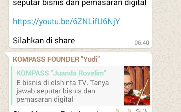 E-Bisnis Bersama Tito Loho dan Juanda Rovelim di Elshinta Tv