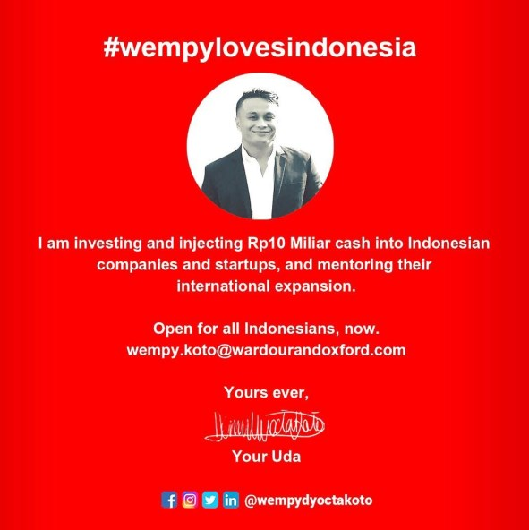Pendanaan Startup dan UKM Indonesia 10 Milyar dari Wempy Dyocta Koto 02