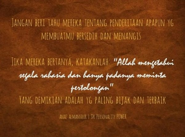 Quote Of The Day Annas Zulham Almansour