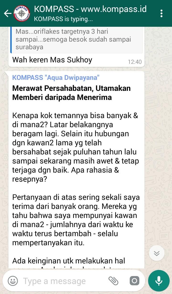 Wejangan Dr. Aqua Dwipayana 15 Juli 2017