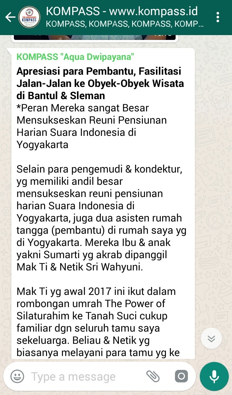Wejangan Dr. Aqua Dwipayana 24 Juli 2017 18.00