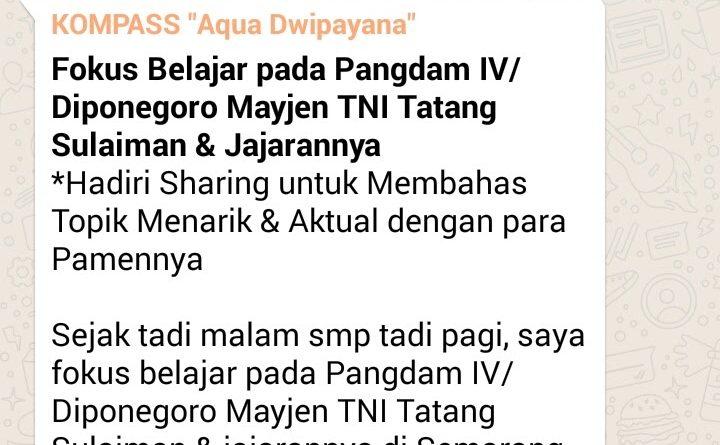 Wejangan Dr. Aqua Dwipayana 28 Juli 2017 19.00