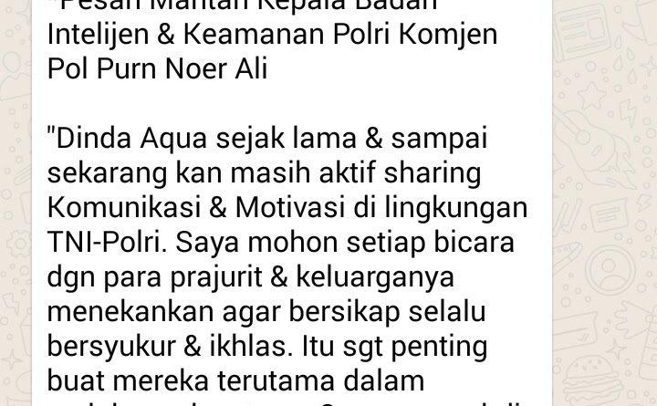 Wejangan Dr. Aqua Dwipayana 28 Juli 2017