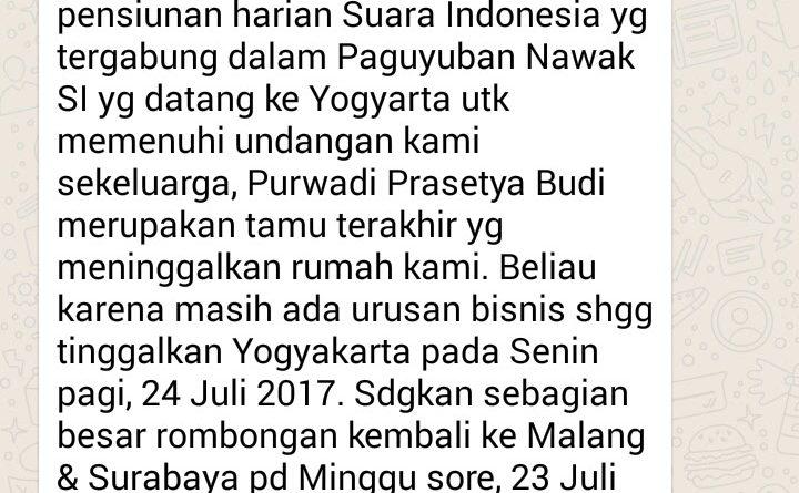 Wejangan Dr. Aqua Dwipayana 30 Juli 2017 22.00