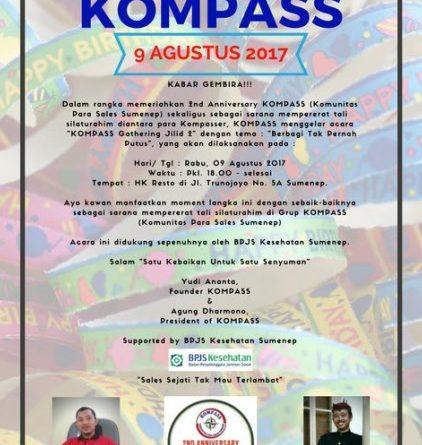KOMPASS 2nd Anniversary 2017 di Sumenep