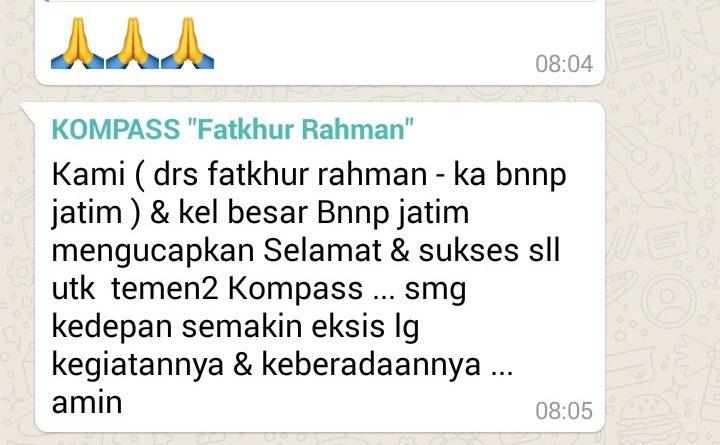 Ucapan Selamat Perayaan 2 Tahun KOMPASS dari Fatkhur Rahman