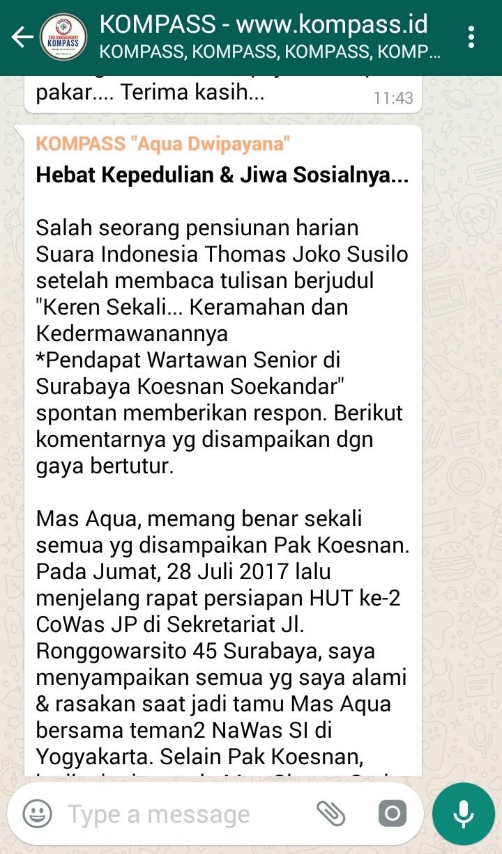 Wejangan Dr. Aqua Dwipayana 2 Agustus 2017