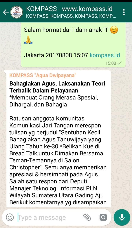 Wejangan Dr. Aqua Dwipayana 8 Agustus 2017