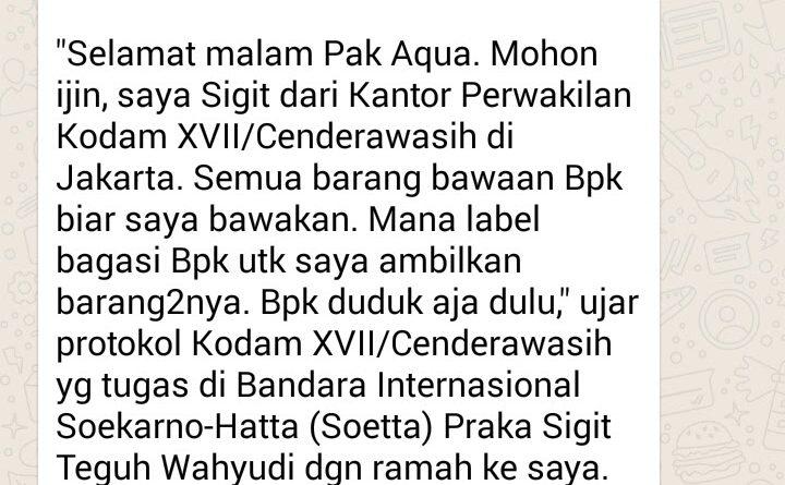 Dahsyatnya Silaturahim, Layanan Prima Jajaran Kodam XVII Cenderawasih Sampai Tuntas di Bandara Internasional Soekarno-Hatta