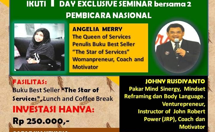 One Day Exclusive Seminar Angelia Merry
