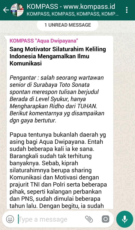 Sang Motivator Silaturahim Keliling Indonesia Mengamalkan Ilmu Komunikasi