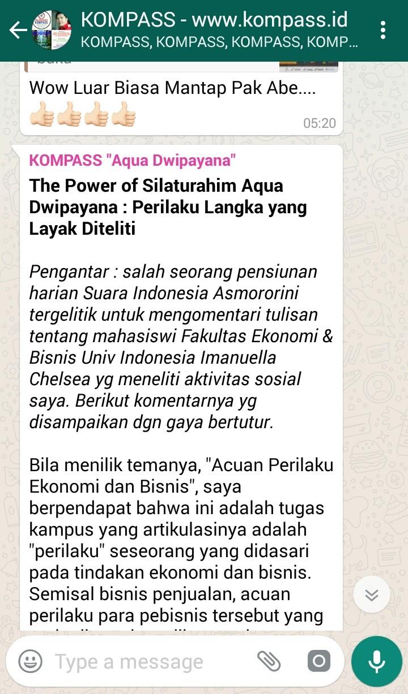 The Power of Silaturahim Aqua Dwipayana Perilaku Langka yang Layak Diteliti