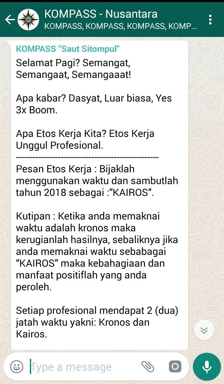Penyampaian Mr SPIRIT Saut Sitompul ETHOS MASTER Indonesia