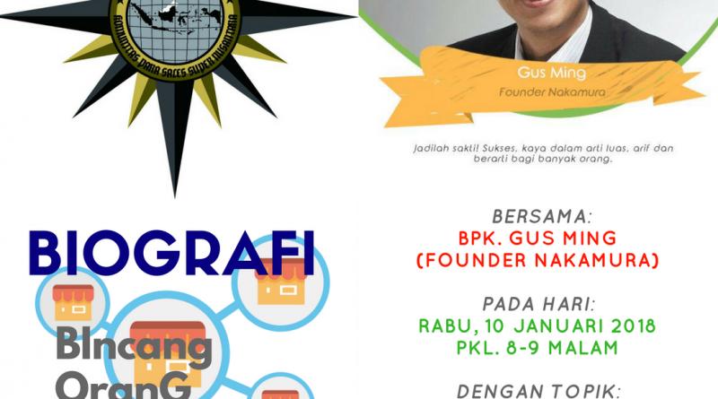 Program Biografi KOMPASS Nusantara 10 Januari 2018