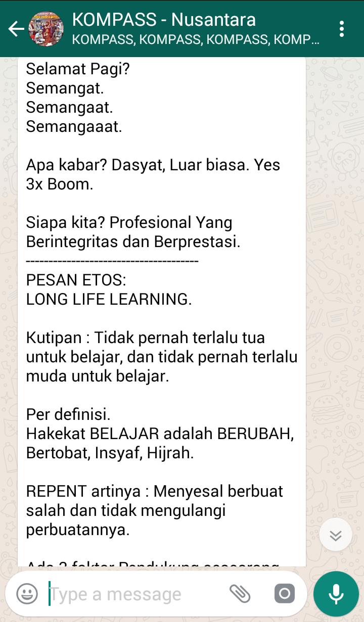 PESAN ETOS SAUT SITOMPUL LONG LIFE LEARNING