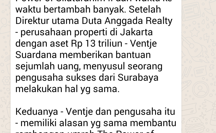 Pengusaha Sukses dari Surabaya Ikut Bantu Rombongan Umroh The Power of Silaturahim II