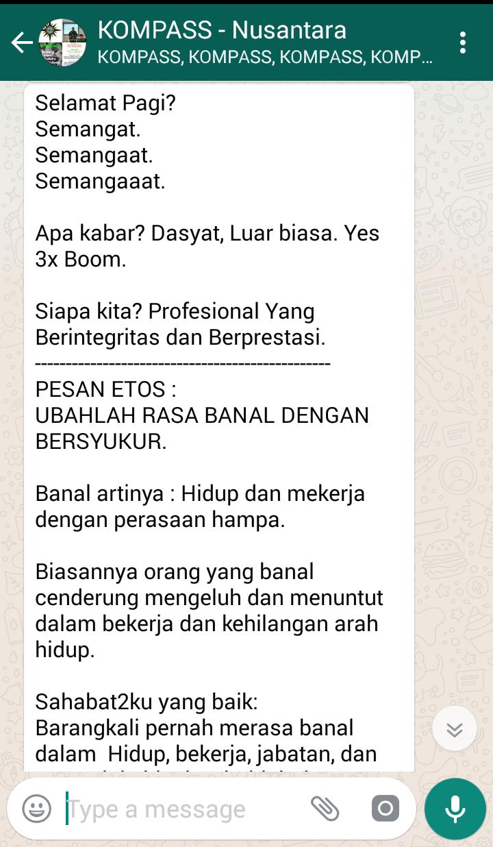 Penyampaian Saut Sitompul ETHOS MASTER Indonesia 7 Maret 2018