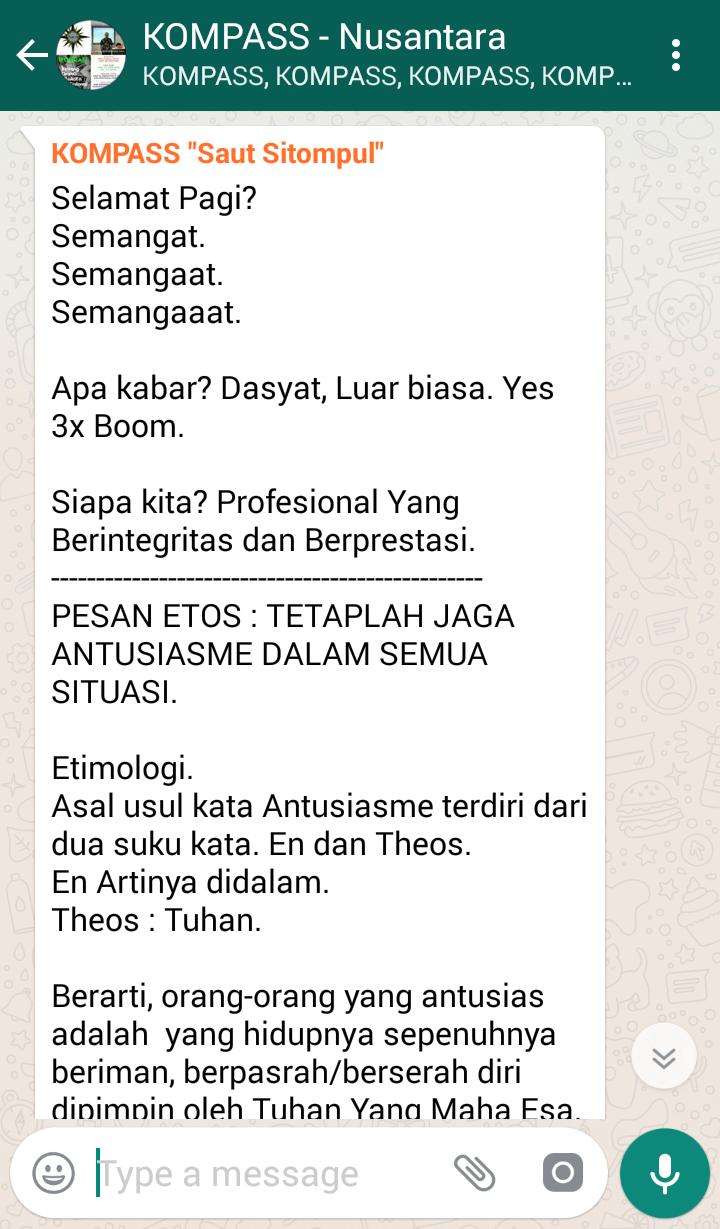 Penyampaian Saut Sitompul Tokoh ETOS Kerja Indonesia 6 Maret 2018