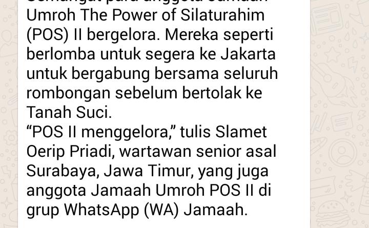 Jamaah Bergelora Menuju Jakarta
