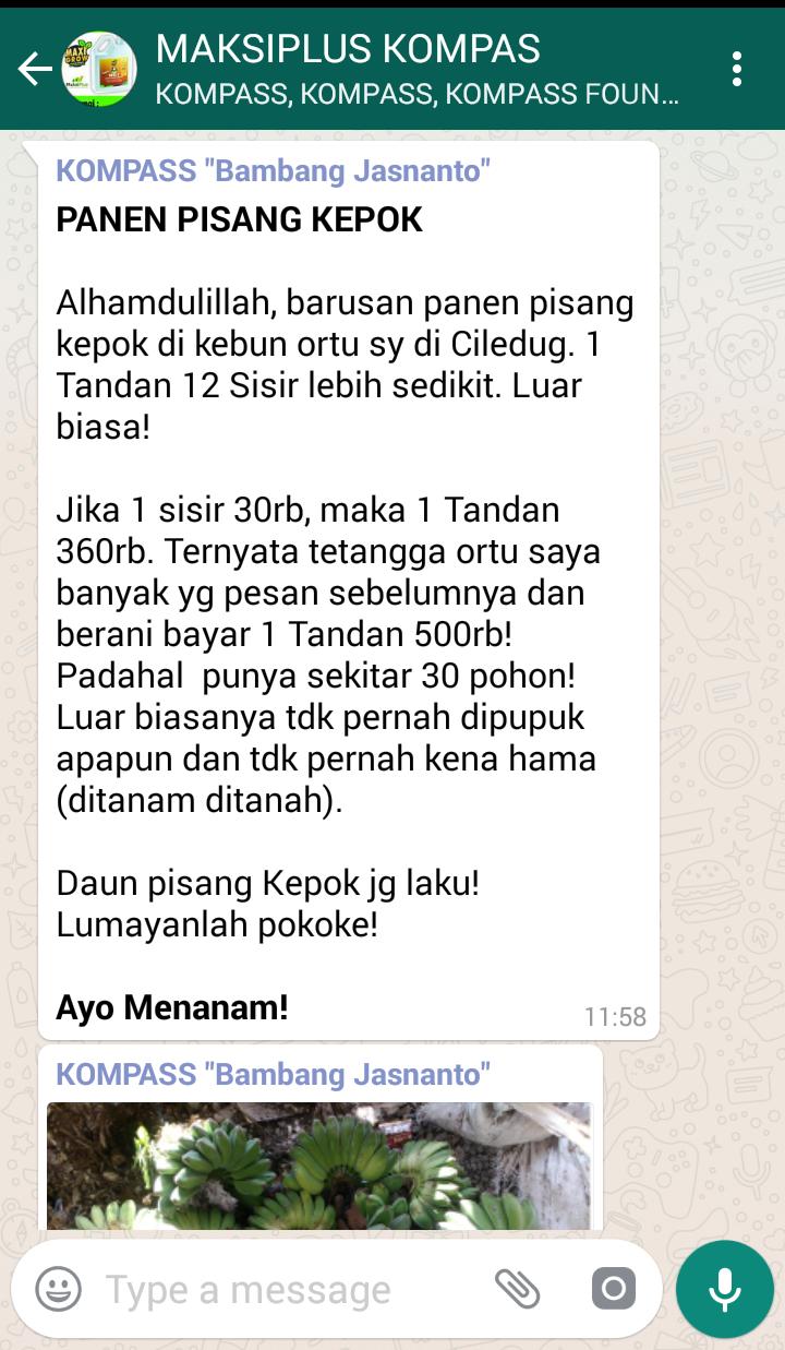 Penyampaian Bambang Jasnanto Pakar HIDROPONIK Indonesia 23 Juni 2018 melalui KOMPASS