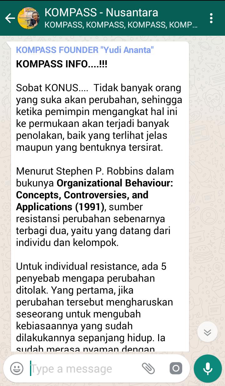 Penyampaian Program INTIPS Komunitas Para Sales Super Nusantara 19 Juli 2018 oleh Founder Yudi Ananta