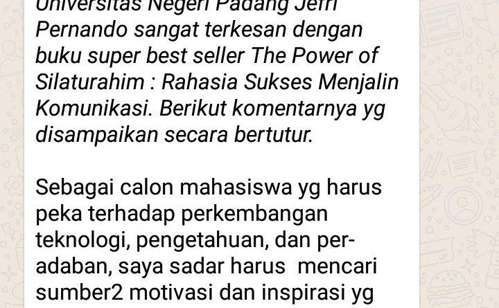 Semuanya ada di The Power of Silaturahim