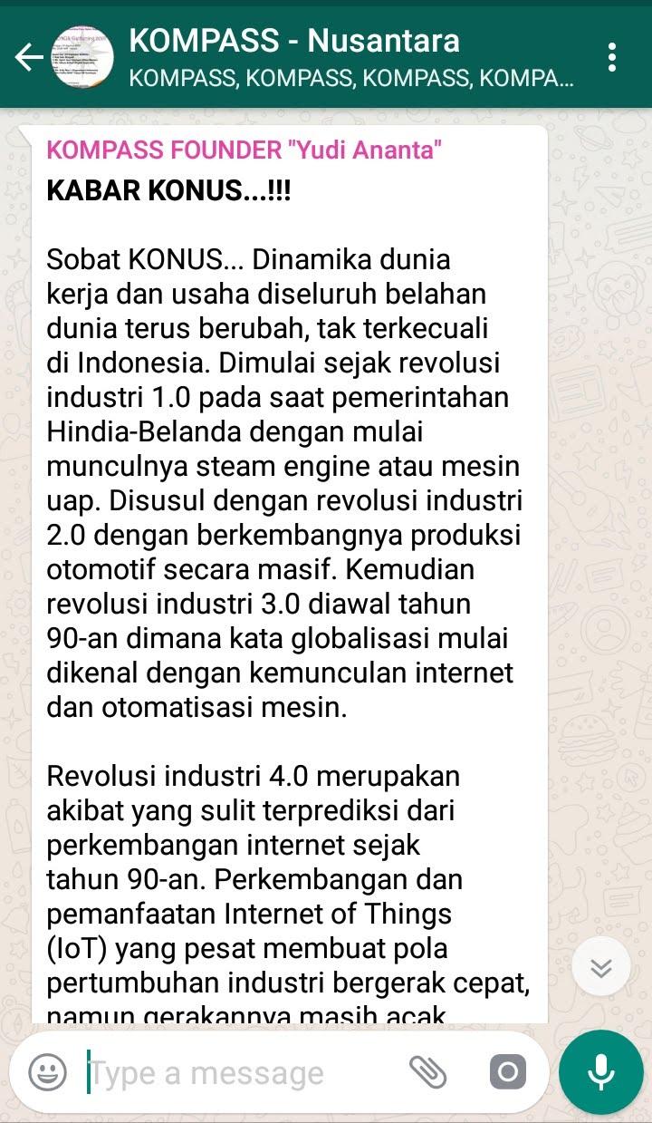 Penyampaian Program Biografi Komunitas Para Sales Super Nusantara 1 Agustus 2018 oleh Founder Yudi Ananta