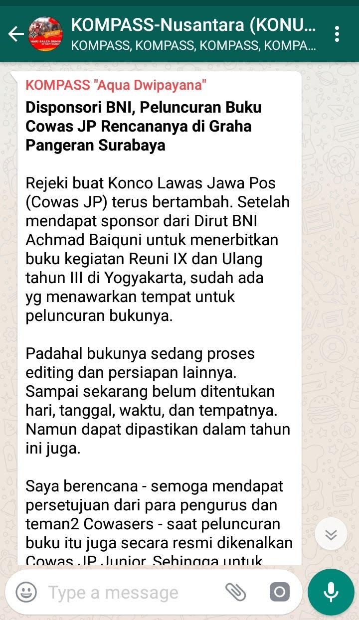 Penyampaian Aqua Dwipayana Pakar KOMUNIKASI Indonesia 20 September 2018