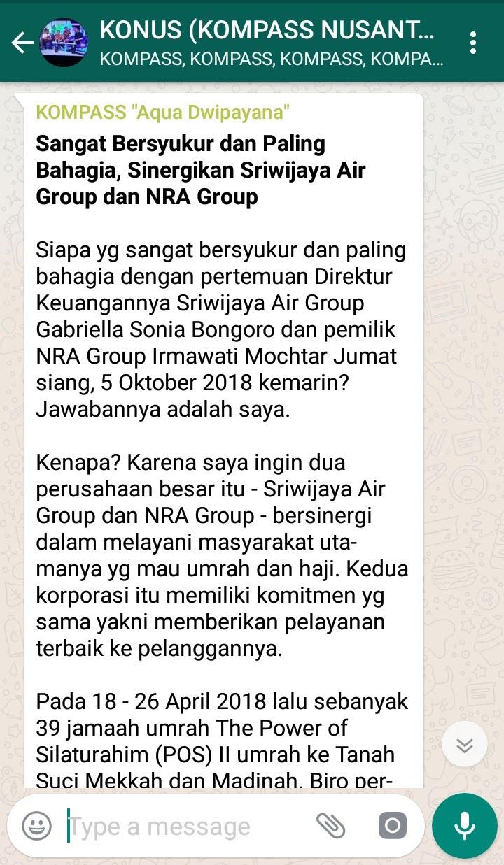 Penyampaian Aqua Dwipayana Pakar KOMUNIKASI Indonesia 6 Oktober 2018