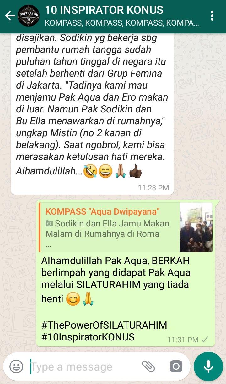 Komentar Muhammad Idham Azhari Co-founder KONUS melalui WAG KOMPASS Nusantara