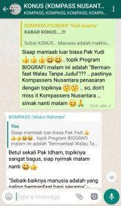 Komentar Program Biografi KOMPASS Nusantara 26 Desember 2018 oleh Co-founder Muhammad Idham Azhari