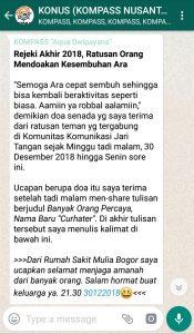 Penyampaian Aqua Dwipayana Pakar KOMUNIKASI Indonesia 31 Desember 2018 melalui WAG KOMPASS Nusantara