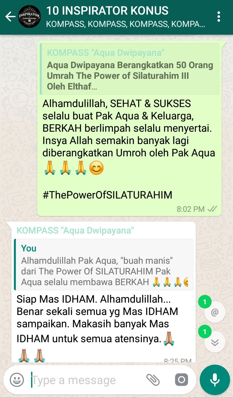 Komentar Muhammad Idham Azhari KONUS Digital 12 Januari 2019 melalui WAG KOMPASS Nusantara