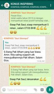 Komentar Muhammad Idham Azhari KONUS Digital 9 Januari 2019 melalui WAG KOMPASS Nusantara