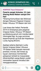 Penyampaian Aqua Dwipayana Pakar Komunikasi Indonesia 30 Januari 2019 melalui WAG KOMPASS Nusantara
