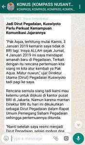Penyampaian Aqua Dwipayana Pakar Komunikasi Indonesia 4 Januari 2019 melalui WAG KOMPASS Nusantara