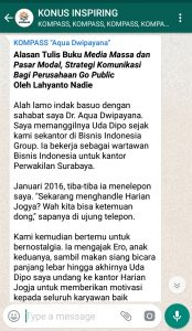 Penyampaian Aqua Dwipayana Pakar Komunikasi Indonesia 7 Januari 2019 melalui WAG KOMPASS Nusantara