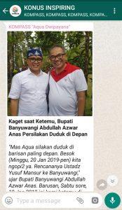 Penyampaian Aqua Dwipayana Pakar Silaturahim Indonesia 19 Januari 2019 melalui WAG KOMPASS Nusantara