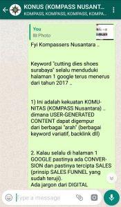 Penyampaian Muhammad Idham Azhari KONUS Digital Marketing 13 Januari 2019 melalui WAG KOMPASS Nusantara