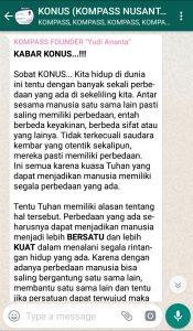Penyampaian Program Biografi KOMPASS Nusantara 23 Januari 2019 oleh Founder Yudi Ananta