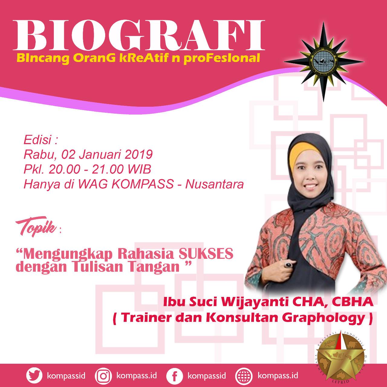 Program Biografi KOMPASS Nusantara 2 Januari 2019