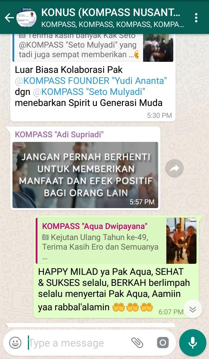 Ucapan Selamat Muhammad Idham Azhari KONUS Digital 23 Januari 2019
