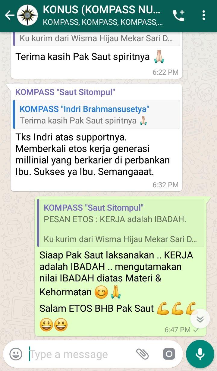 Komentar Muhammad Idham Azhari KONUS Digital Marketing 16 Februari 2019