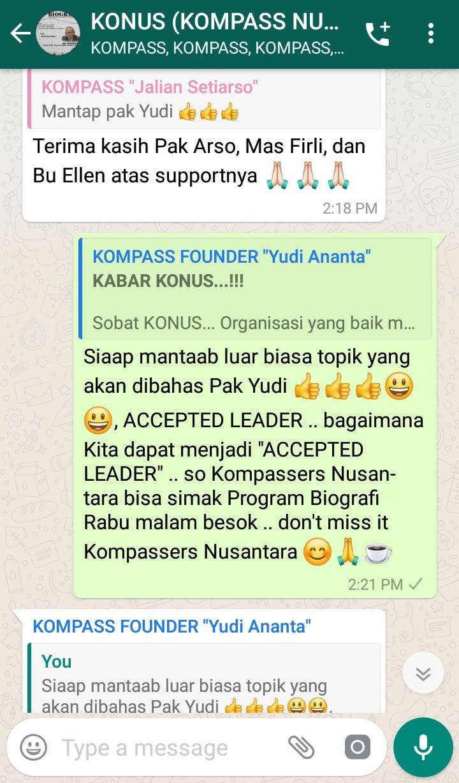 Komentar Program Biografi KOMPASS Nusantara 6 Februari 2019 oleh KONUS Digital Muhammad Idham Azhari