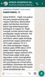 Penyampaian Program Biografi KOMPASS Nusantara 27 Februari 2019 oleh Founder Yudi Ananta
