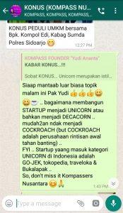 Komentar Muhammad Idham Azhari KONUS Digital Startup 13 Maret 2019