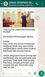 Penyampaian Anaz Almansour Master Rezeki Healing 23 Maret 2019 melalui WAG KOMPASS Nusantara
