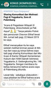 Penyampaian Aqua Dwipayana Pakar Komunikasi Indonesia 22 Maret 2019 melalui WAG KOMPASS Nusantara