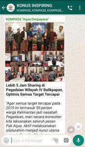 Penyampaian Aqua Dwipayana Pakar Silaturahim Indonesia 16 Maret 2019 melalui WAG KOMPASS Nusantara