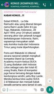 Penyampaian Program Biografi KOMPASS Nusantara 27 Maret 2019 oleh Founder Yudi Ananta